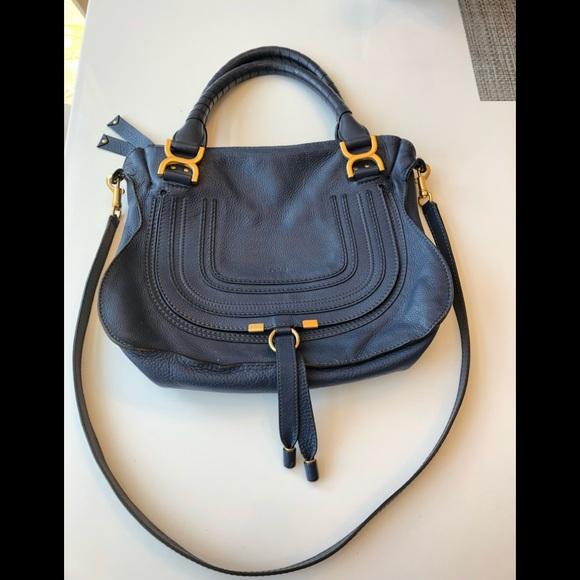 95f1c3e8677 Chloe Bags | Marcie Bag In Medium Size Royal Navy Blue | Poshmark
